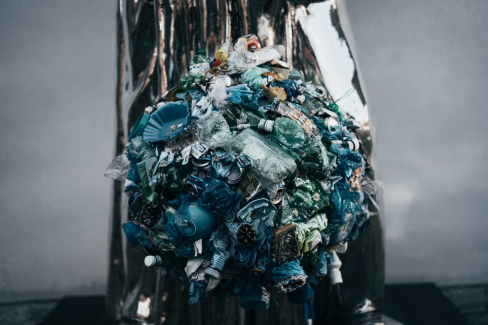 Crushed plastic waste