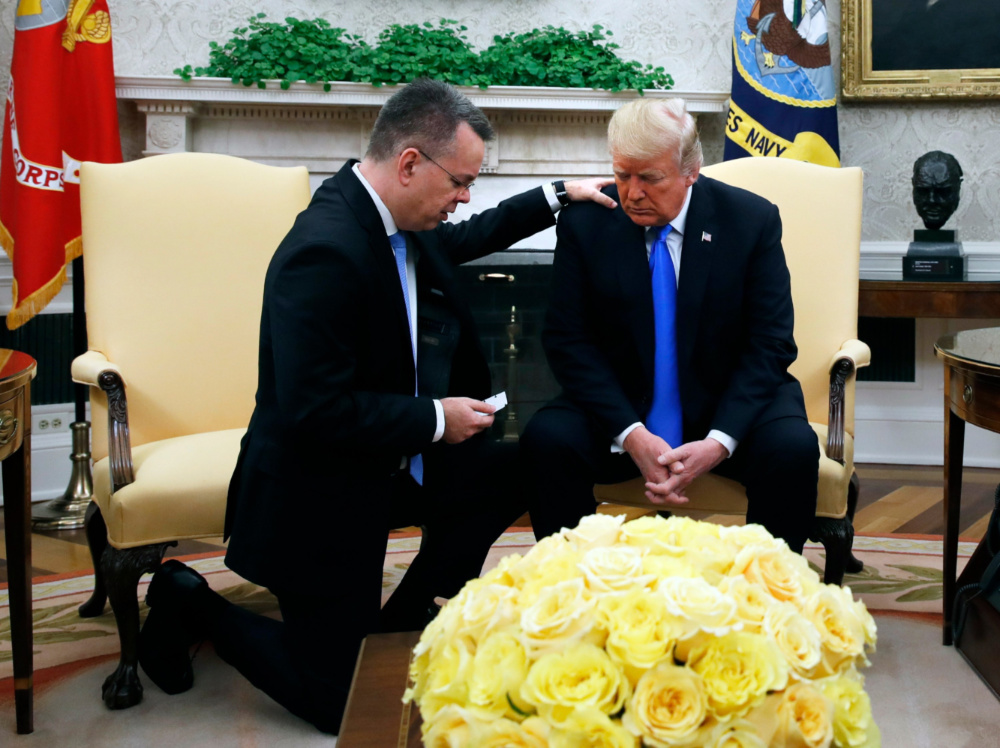 Donald Trump and Andrew Brunson Oct 2018