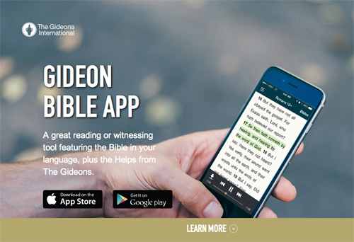 Sight Magazine - APPS: THE GIDEON BIBLE APP, AND TAKING A