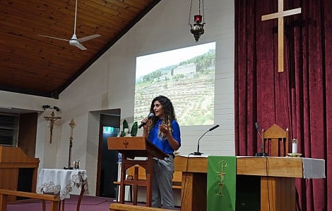 MAINTAINING HOPE: ONE PALESTINIAN CHRISTIAN WOMAN'S PASSION FOR TELLING THE WORLD ABOUT THE PLIGHT OF HER PEOPLE