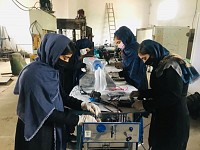 Wow!: With bike chains and car parts, Afghan girls build ventilators
