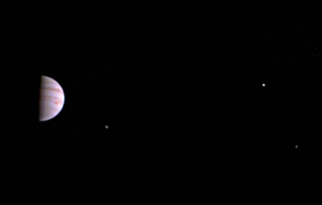 SPACE: FIRST VIEW OF JUPITER FROM GAS GIANT'S ORBIT
