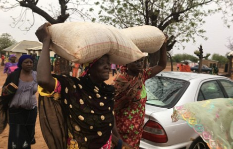 FOOD CRISIS: DISPLACED BY BOKO HARAM'S VIOLENCE, NIGERIANS FINALLY GET FOOD TO PREVENT FAMINE