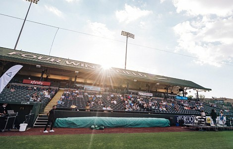 Adapting church: US churches hit home run with services in ballparks and stadiums as COVID-19 cancels sports