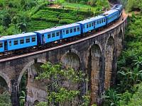Snapshot: Rail bridge in Sri Lanka....