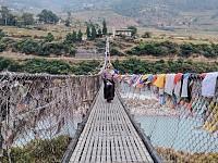 Snapshot: Suspension bridge, Bhutan
